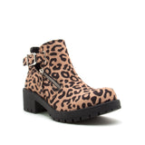 TRESSA-22X TAN BLACK LEOPARD SUEDE 1/4 VIEW