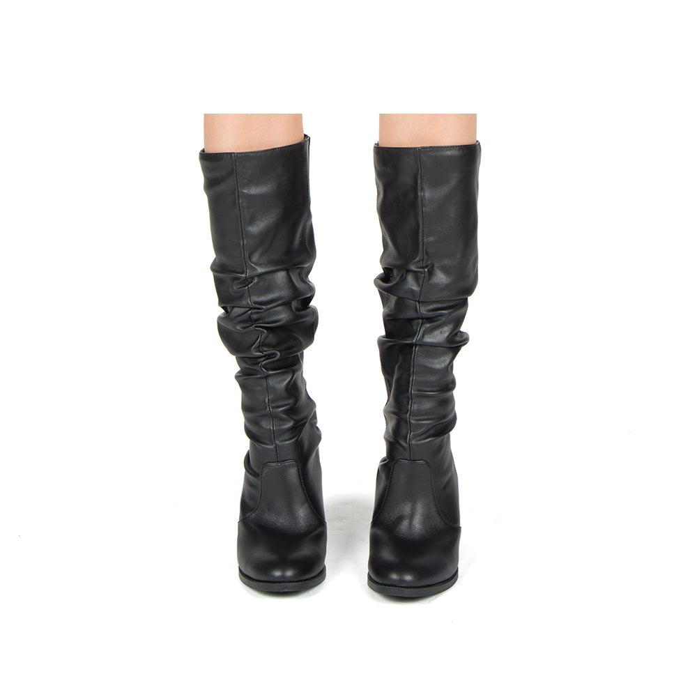 TYSON-33XX BLACK STRETCH CRINKLE PU