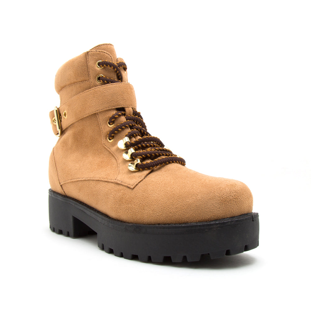 WARFARE-09A CAMEL STRETCH SUEDE PU 1/4 VIEW
