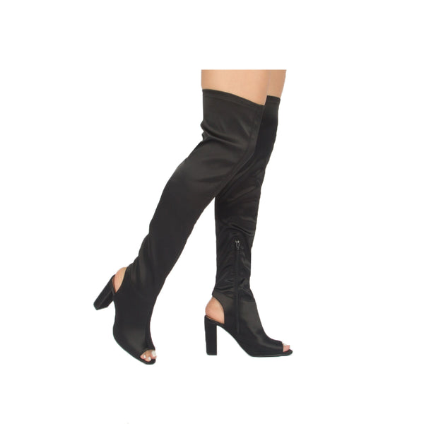 YORK-22X BLACK STRETCH SATIN