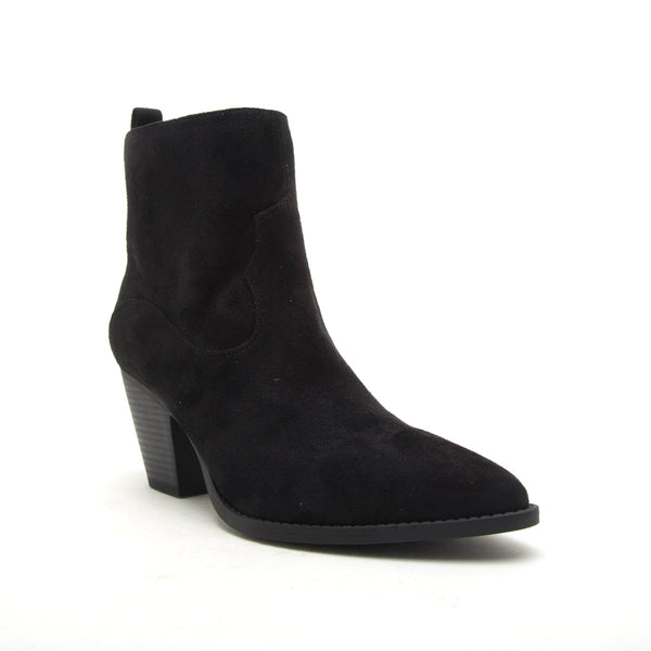 ZANE-27 BLACK STRETCH SUEDE PU