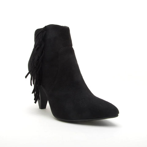 ZINGER-12 BLACK STRETCH SUEDE PU
