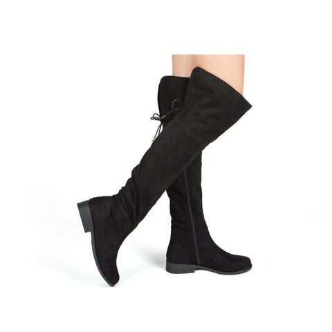 ZION-17BXXX BLACK STRETCH SUEDE PU