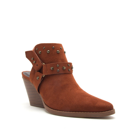 ZOOEY-04X WHISKEY STRETCH SUEDE PU