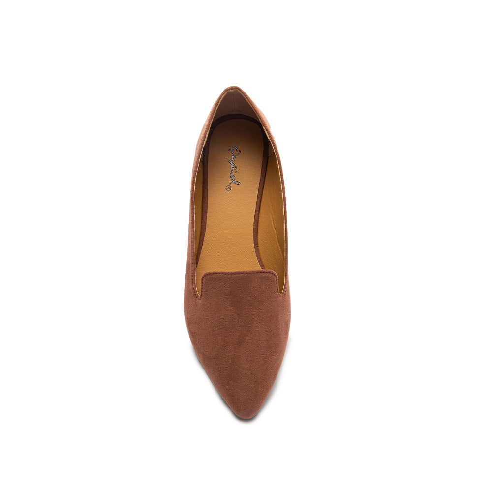 ZOOM-03 MOCHA SUEDE TOP VIEW