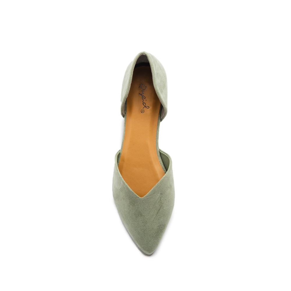 ZOOM-28 KHAKI SUEDE PU TOP VIEW