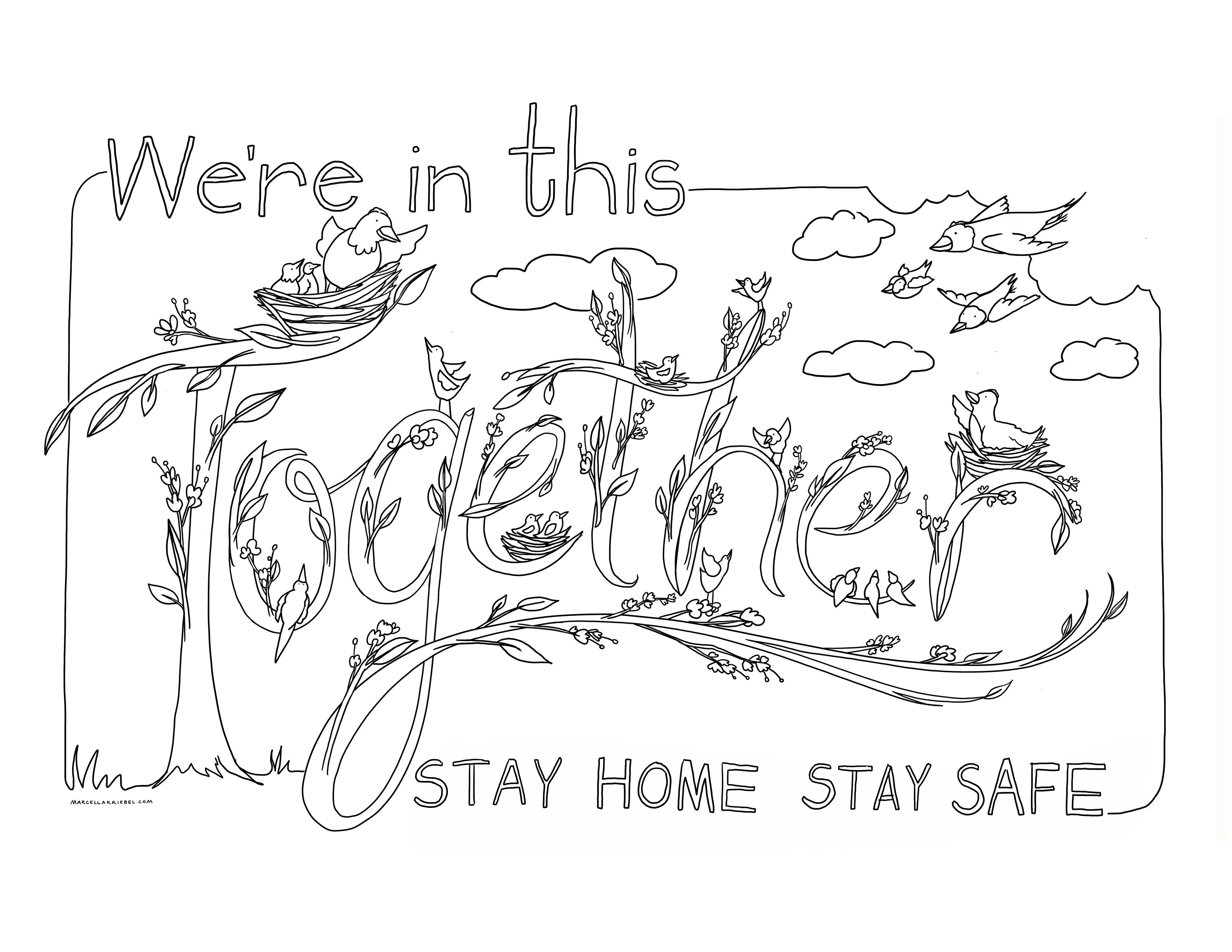 - We're In This Together - A Free Coloring Sheet Download – Marcella