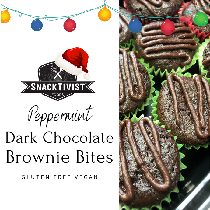 Dark Chocolate Brownies with Peppermint Ganache