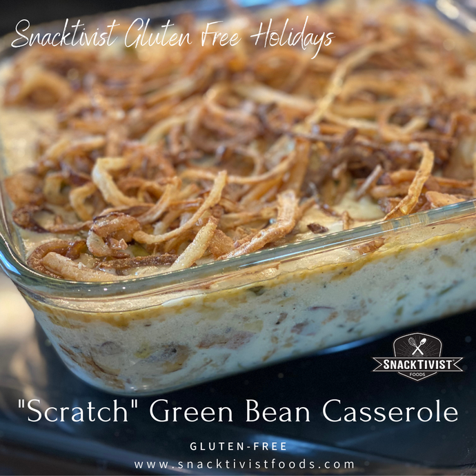 """Scratch"" Green Bean Casserole with Fried Sweet Onions, Gluten-free (vegan option)"