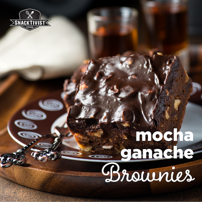Mocha Ganache Brownies with Walnuts