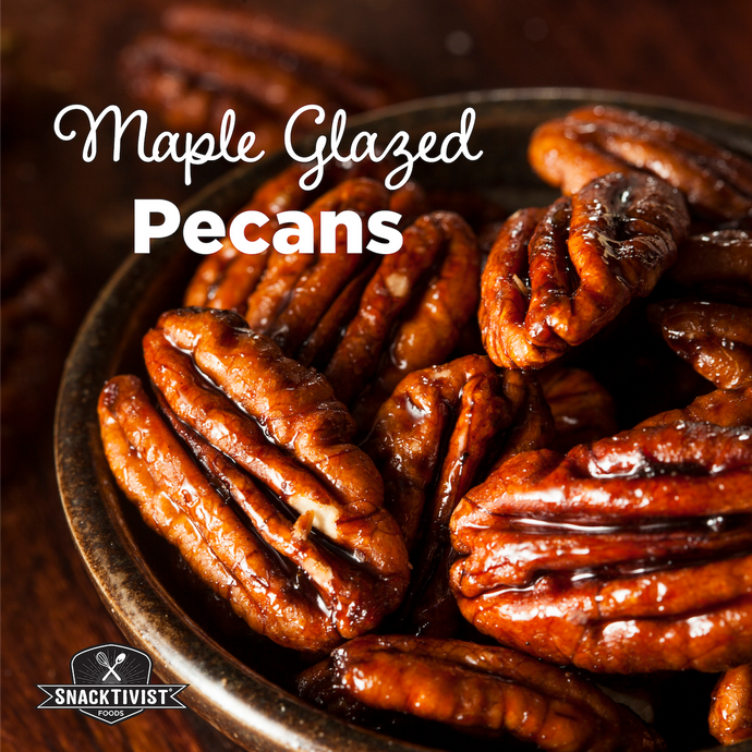 Two-Ingredient Maple Glazed Pecans