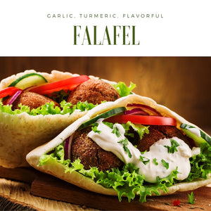 Turmeric Garbanzo Falafel and Breading