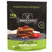 Load image into Gallery viewer, Snacktivist Foods Gluten-Free Plant Protein Waffle & Pancake Mix, Non-GMO, Allergen Friendly, Vegan