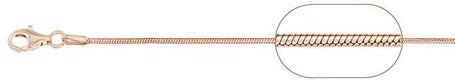 "020-0.7MM Rose Gold Plated Square Snake Chain .925  Solid Sterling Silver Available in 16""- 22"" inches"