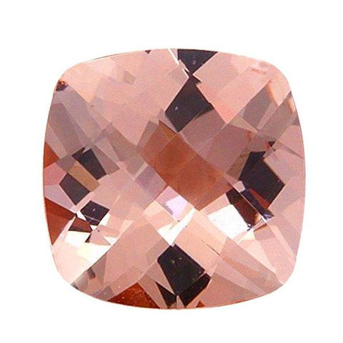 Click to view Square Cushion Cut Morganite loose stones variation