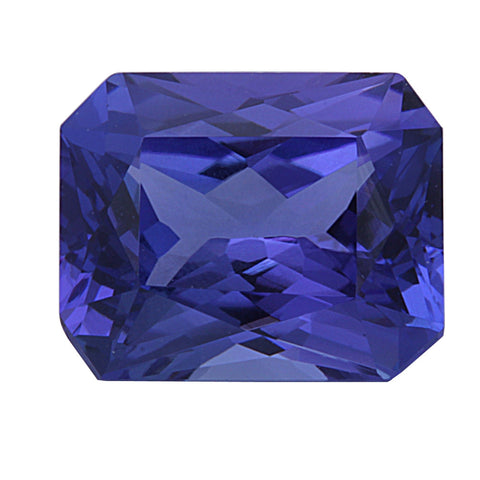3.72ct Natural Radiant Cut Tanzanite Loose Gemstone
