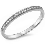 .11ct 14kt White Gold E-VS Round Diamond Wedding Anniversary Accent Band