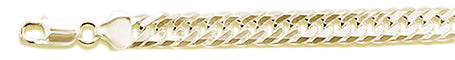 "160 9.2MM DOUBLE Link Yellow gold plated .925 Sterling Silver Chain 8-28"" Available"
