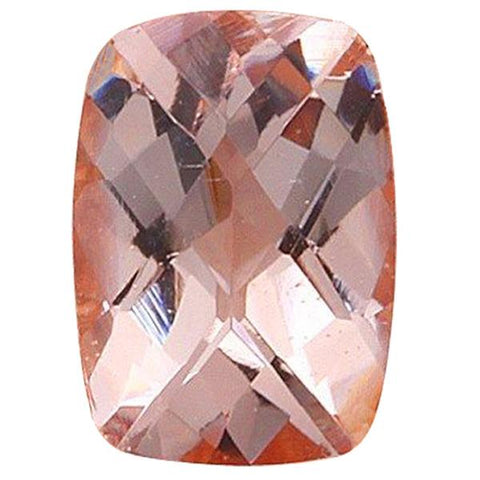 Click to view Rectangular cushion cut Morganite loose Gemstones Variation