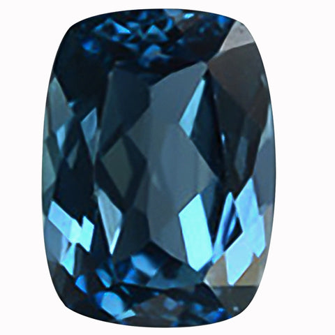 Click to view Rectangular cushion cut London Blue Topaz loose Gemstones Variation