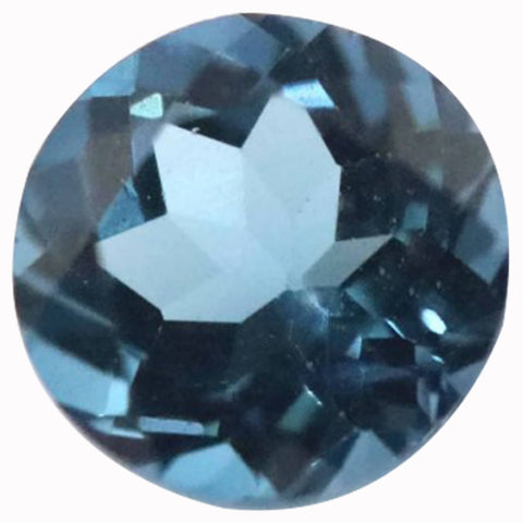 Click to view Round Brilliant Cut London Blue Topaz Loose Gemstones variation