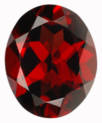 Click to view Oval shape Garnet loose Gemstones variation