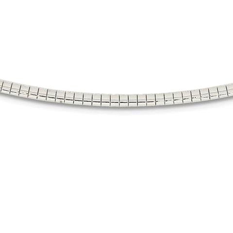 "3MM .925 Sterling Silver Omega Necklace Chain 16-18"" Available"