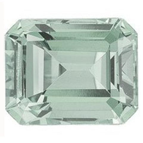 Click to view Emerald Cut Green Amethyst loose Gemstones variation