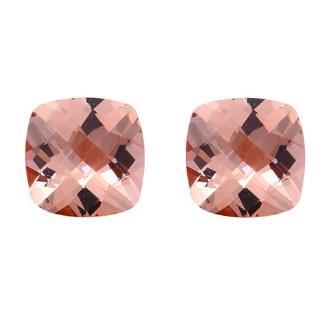 2.76ct 7mm Natural Cushion Cut Morganite Loose Gemstones Great for Earrings!
