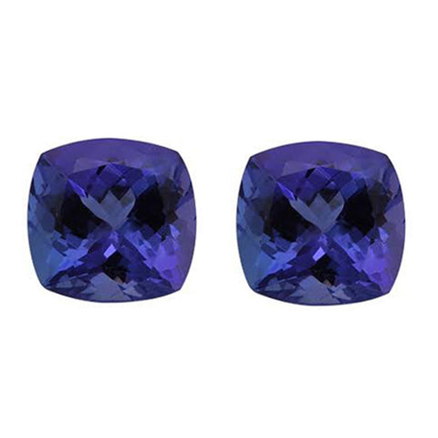 3.60CT 7mm Natural Cushion Cut Tanzanite Loose Gemstones Great for Earrings!