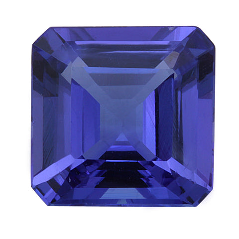 4.03ct Natural Asscher Cut Tanzanite Loose Gemstone