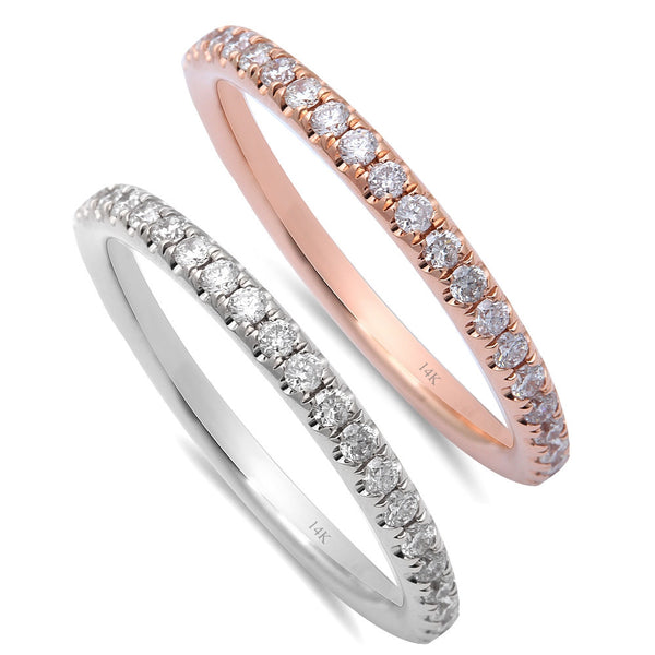 .52ct Round Diamond Eternity Wedding Band 14kt White or Rose Gold Sz 6.5