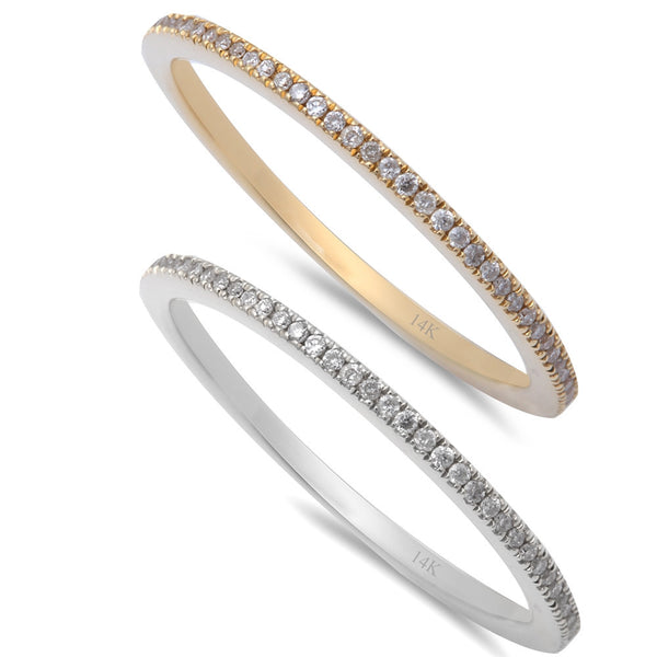 .15ct Diamond 14kt Rose White, or Yellow Gold Eternity Wedding Band size 6.5