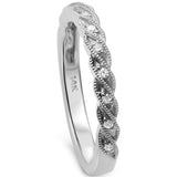 .09cts 14k White Gold F SI Round Diamond Wedding Anniversary Band