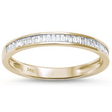 .25ct Channel Set 14kt Yellow Gold Baguette Diamond Wedding Anniversary Band