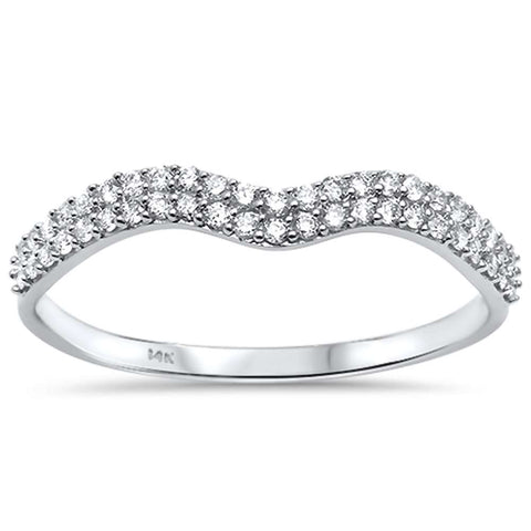 .20ct G SI 14kt White Gold Diamond Band Ring Size 6.5
