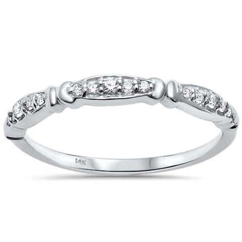 .11ct G SI 14kt White Gold Diamond Band Ring Size 6.5