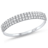 .27ct G SI 14kt White Gold Diamond Band Ring Size 6.5