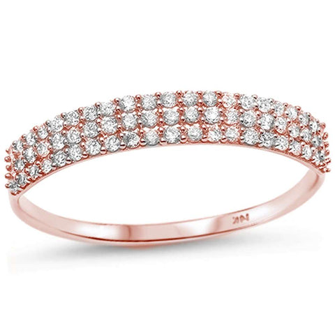 .26ct G SI 14kt Rose Gold Diamond Band Ring Size 6.5
