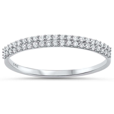 .18ct G SI 14kt White Gold Diamond Band Ring Size 6.5