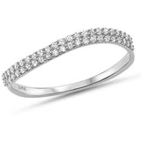 .19ct G SI 14kt White Gold Diamond Band Ring Size 6.5
