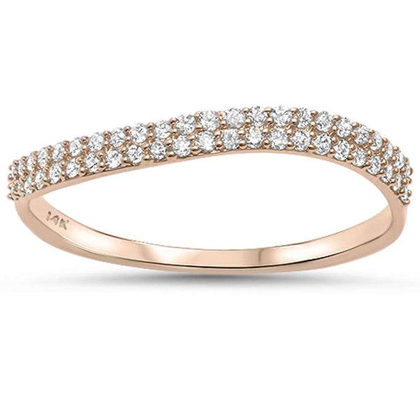 .20ct G SI 14kt Rose Gold Diamond Band Ring Size 6.5