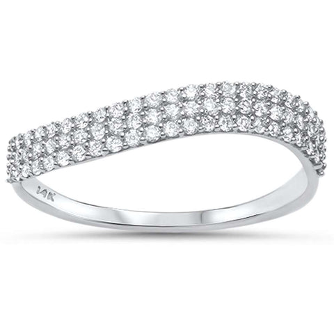 .30ct G SI 14kt White Gold Diamond Band Ring Size 6.5