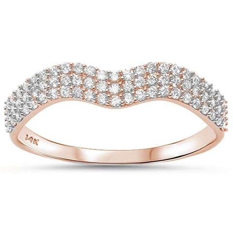 .29ct G SI 14kt Rose Gold Diamond Band Ring Size 6.5