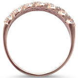 .27ct G SI 14kt Rose Gold Elegant Diamond Band Ring Size 6.5