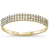.23ct 14kt Yellow Gold Micro Pave Diamond Band Size 6.5