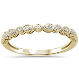 .06ct 14k Yellow Gold Diamond Anniversary Wedding Stackable Band Size 6.5