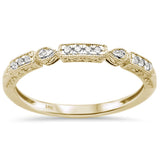 .08ct 14k Yellow Gold Diamond Anniversary Wedding Stackable Band Size 6.5