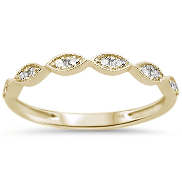 .15ct 14k Yellow Gold Diamond Anniversary Wedding Stackable Band Size 6.5