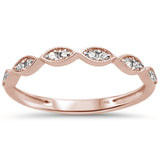 .15ct 14k Rose Gold Diamond Anniversary Wedding Stackable Band Size 6.5